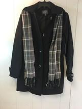 ST.JOHN'S BAY Men's Woolen Jacket with Hoodie & Scarf Black Small  #J410 - $79.99