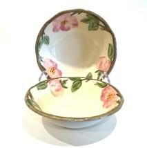 "Franciscan Desert Rose 6"" Berry Bowls Set of 2 England 1995 - $14.99"
