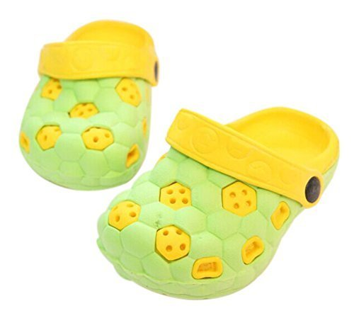 Kids Sandals in/Outdoor Toddler Clogs Shoes/Green Football 16CM Length
