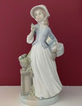 "13"" NADAL LLADRO LADY WOMAN GIRL FIGURINE HOLDING CARRYING PACKAGES GIFT... - $148.49"