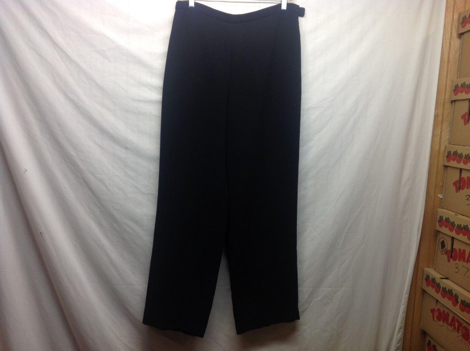 Chadwicks Ladies Black Cuffed Dress Pants Sz 14