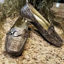 Womens ANNE KLEIN iflex Grandly Snake Embossed Slip On Loafers Mocs US Sz 9M - $39.95