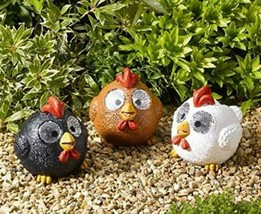 SOLAR BRIGHT EYED HAPPY HENS - PACK OF 3 + FREE DELIVERY - $15.27