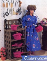 Culinary Corner fits Barbie Doll Plastic Canvas PATTERN/INSTRUCTIONS Lea... - $2.67