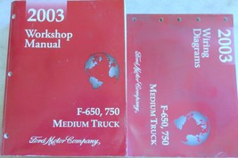 2003 Ford F-650 750 Truck Service Shop Repair Wiring Manual OEM Factory Book Set - $10.87