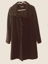 Ann Taylor Overcoat Wool Blend Black Zip Black  Metallic Women Jacket Si... - $27.60