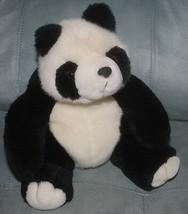 "Panda Bear Fiesta 9"" Stuffed Animal Black White Teddy Bean Bag Plush Toy... - $14.80"
