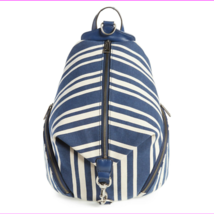 Rebecca Minkoff Julian Canvas Backpack, HH17FCTB01, Navy Stripe, MSRP $275 - $188.10