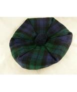 Ingles Buchan Black Watch Scottish Tartan Tam Wool Hat cap knit ribbing ... - $22.76