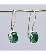 india 925 Sterling Silver appealing Natural Green Earring gift UK - $13.80
