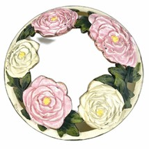 Yankee Candle Summer Peony Pink Yellow Leaves Illuma Lid Topper Floral 2007 - $28.45