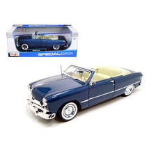 1949 Ford Convertible Blue 1/18 Diecast Model Car by Maisto 31682bl - $61.10