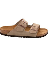 Birkenstock Arizona Sweden Footbed Women Suede Leather Mole Taupe Sandal... - £90.57 GBP