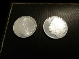 Two 999 Fine Silver Indian Feather Rounds  - $70.00