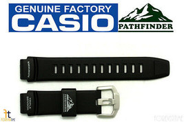 Casio Pathfinder PAW-2000 Originale 18mm GOMMA Nera Orologio con Cinturino - $60.32