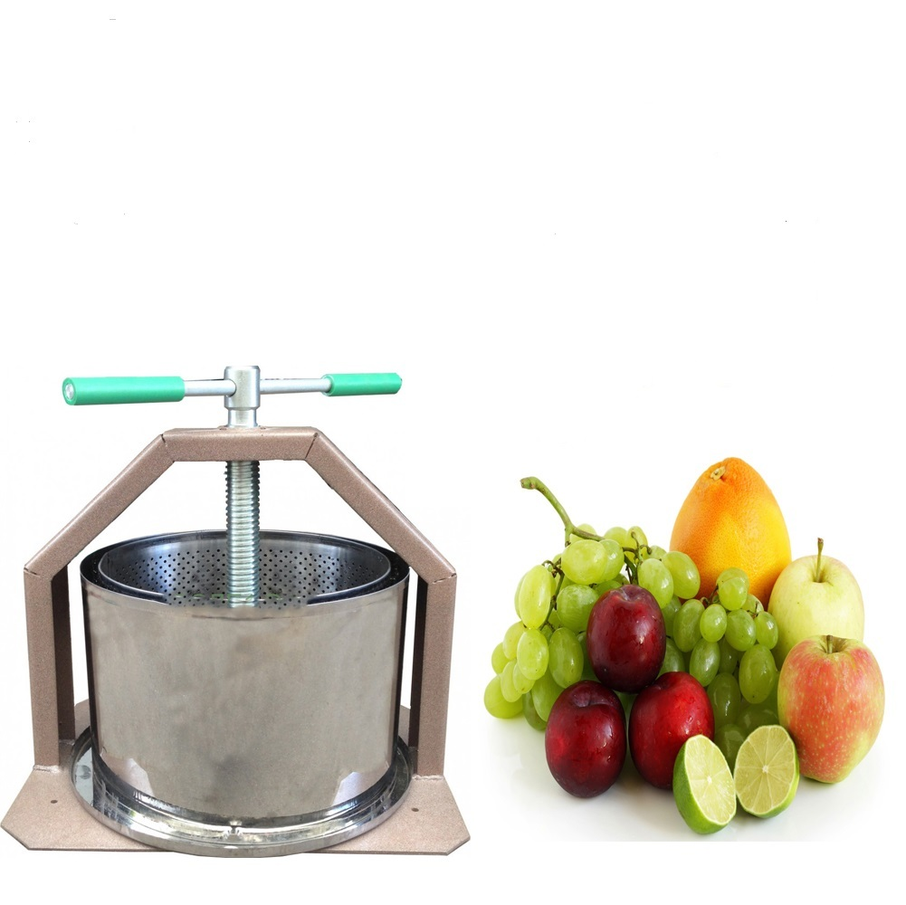 Press For Making Wine Fruit Cider Apple Juice Crusher Grape Stainless Grapes15L