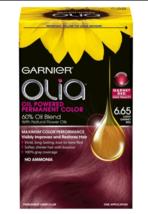 Garnier Olia Oil Powered Permanent Hair Color/Dye 6.65 Light Garnet Red - $13.80