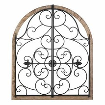 Arched Wood and Iron Wall Decor 30x1x35 - $129.46
