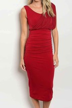 Red Hollywood Dress with Wrap Detailing, Formal Red Party Dress, Red Wrap Dress