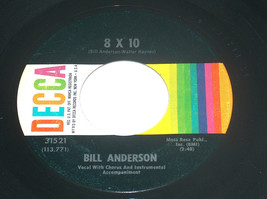 45 rpm bill anderson one mile over rear 3.2km 8x10 vinyl record 31521 ex - $7.90