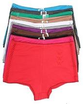 Grace Plus Size 12 Pack Boyshorts Panties (2XL)