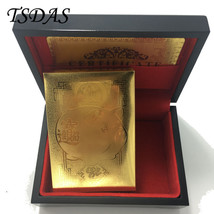 24K Gold Foil Plated Poker Playing Cards Collection Lucky Pig Golden Pok... - $14.50