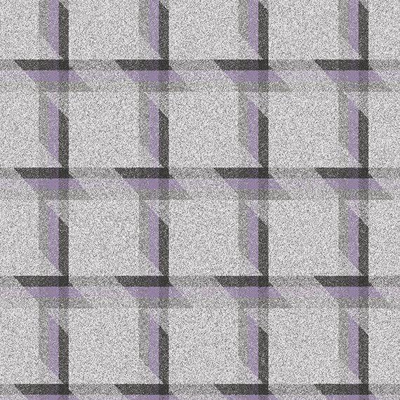 8.25 yds Camira Upholstery Fabric Balance Plaid Wool Align Purple LDB05 EA