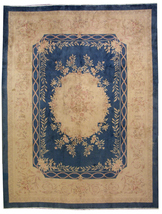 Hand made antique Chinese rug 8.10' x 11.6' ( 272cm x 353cm ) 1930 - 1L12 - $6,110.00