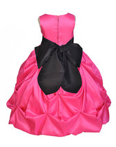 Fuchsia Taffeta Flower Girl Dress Wedding Pageant Bridesmaid Toddler 301S - $38.99