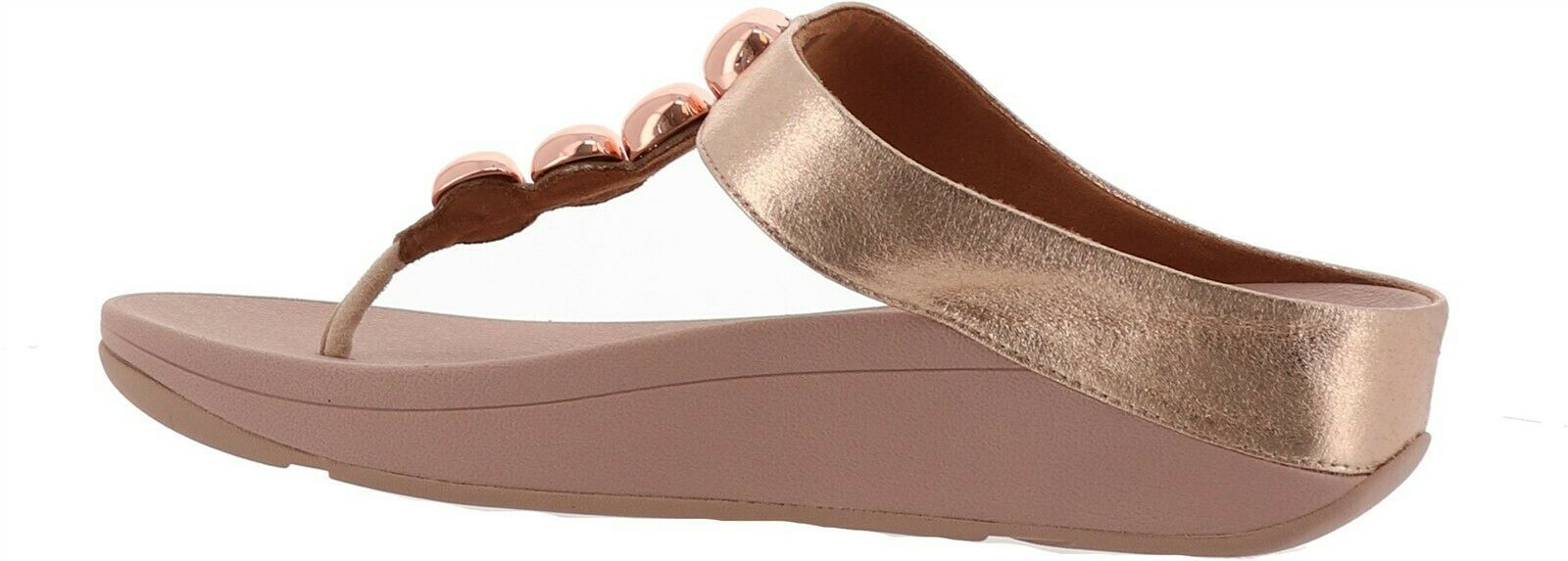 FitFlop Francheska Glitzy Toe Post Sandal Rose Gold 8 NEW 699-161 - $91.06