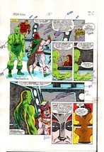 1984 Iron Man 181 page 20 Marvel Comics original color guide art:1980's ... - $99.50