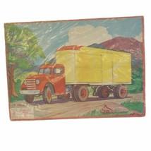 Milton Bradley Vintage Puzzle Semi-Truck 1955 Aptitude Tested Puzzle 15 Pieces - $13.85