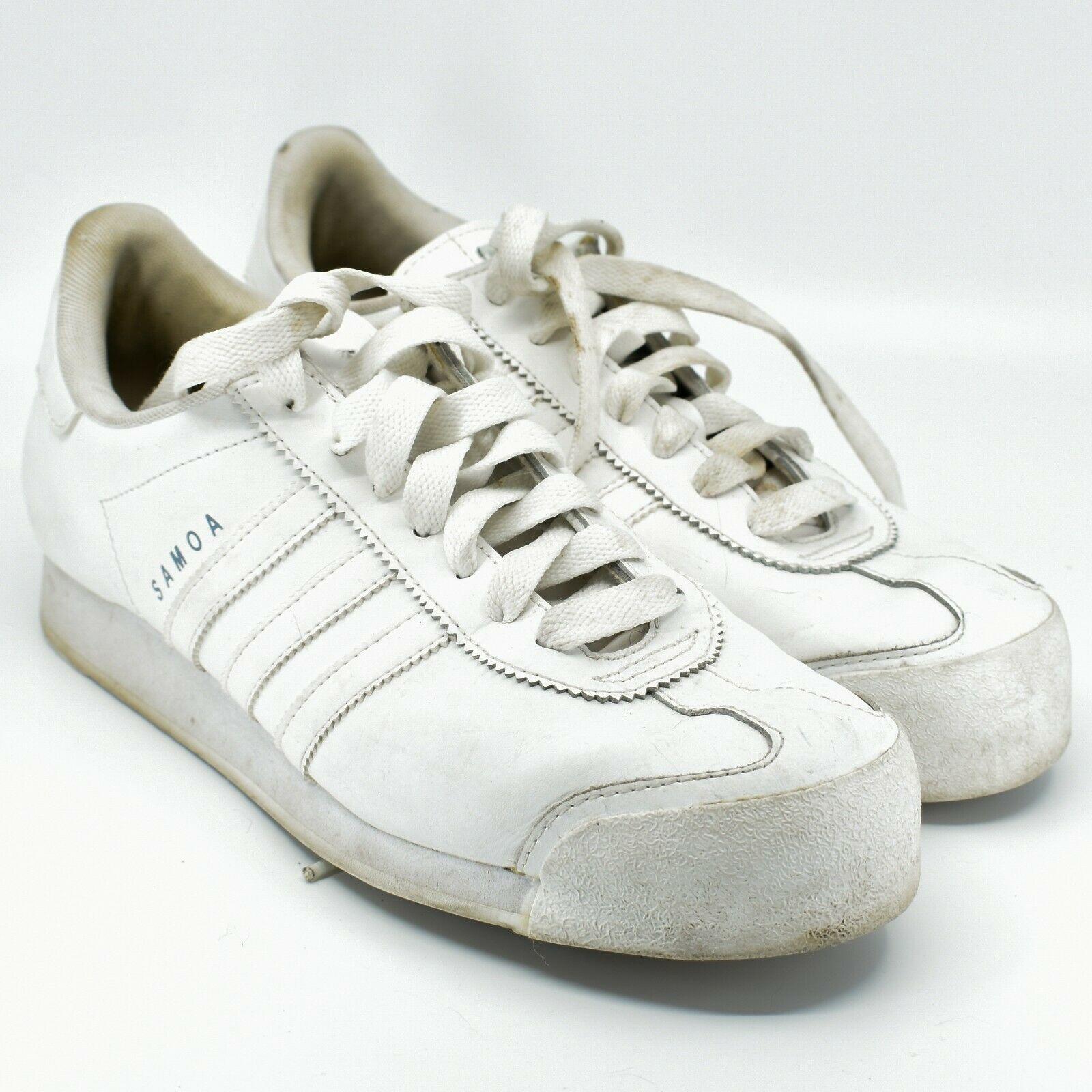 Adidas Samoa Women's White Lace Up Athletic Sneaker Shoes Size 10 G20682