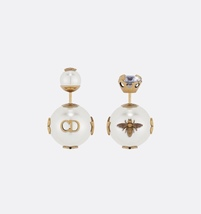 AUTH Christian Diorl Earrings DIOR TRIBALES PEARL Crystal Multi Charm Star Gold  image 3