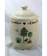 Thomson Pottery 2006 Birdhouse Large Canister With Lid - $18.89