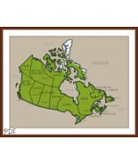 Cross Stitch Pattern Map of Canada, Canadian Cross Stitch Chart PDF Download - $3.32