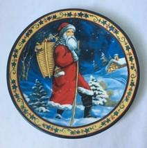 "Woodlands Santa Father Christmas Decorator Serving Plate 8.25"" - $9.95"