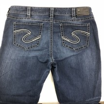 "Silver Jeans Co Suki Mid Super Skinny Dark Wash Denim Bling Pockets Sz 20 29"" - $18.38"