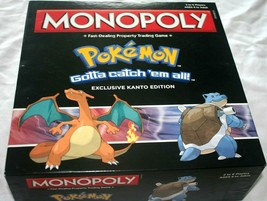 Monopoly Pokemon Exclusive Kanto Edition Board Game Complete In Box 2015 - $62.70