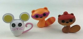 Lalaloopsy Beaver Raccoon Mouse Doll Pet 3pc Lot Toy Accessory MGA Replacement - $15.99