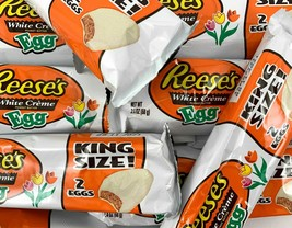 Reese's White Creme Peanut Butter Eggs, King Size, - $19.39+