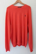 NWT POLO Ralph Lauren 100% Cashmere Orange Men's Classic Soft Sweater XL $325 - $218.00