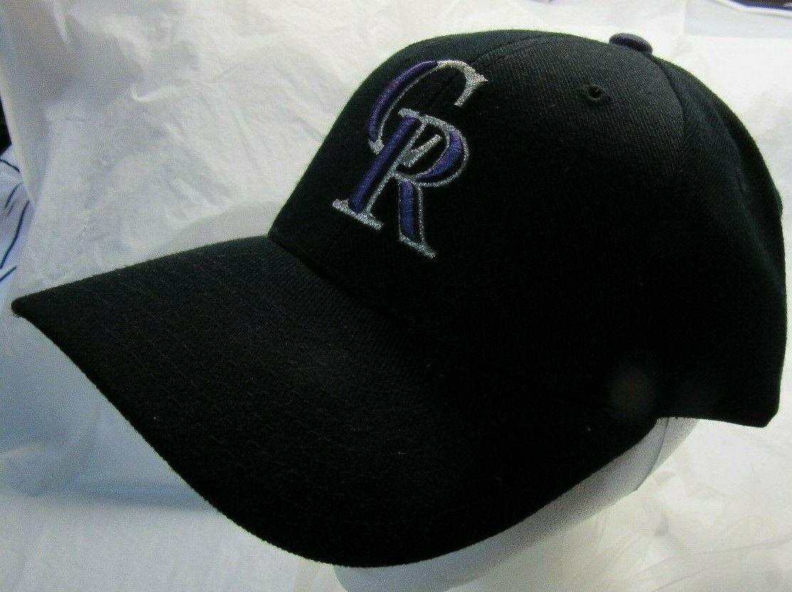 NWT MLB PUMA RAISED WOOL REPLICA HAT - COLORADO ROCKIES BLACK
