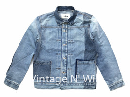 Levis Made Crafted Mens L Type II Pleated Patchwork Denim Jean Trucker J... - $198.55