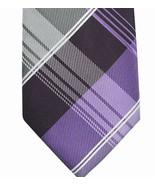 Geoffrey Beene Plaid Print Tie Purple (Multi Color) - $16.56