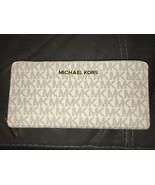 NWT Michael Kors Jet Continental Zip Around Vanilla Large Wallet - $119.99