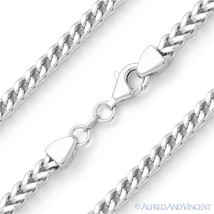 4.2mm Arrow Link Men's Franco Chain Necklace in .925 Sterling Silver w/ Rhodium - $153.39