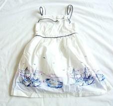 Janie and Jack Yacht Party Scenic Sailboat Poplin Dress size 3     Dress... - $49.45