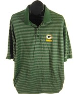 Green Bay Packers NFL Mens Striped Casual Shirt XL Breathable Free Shipping - $19.95