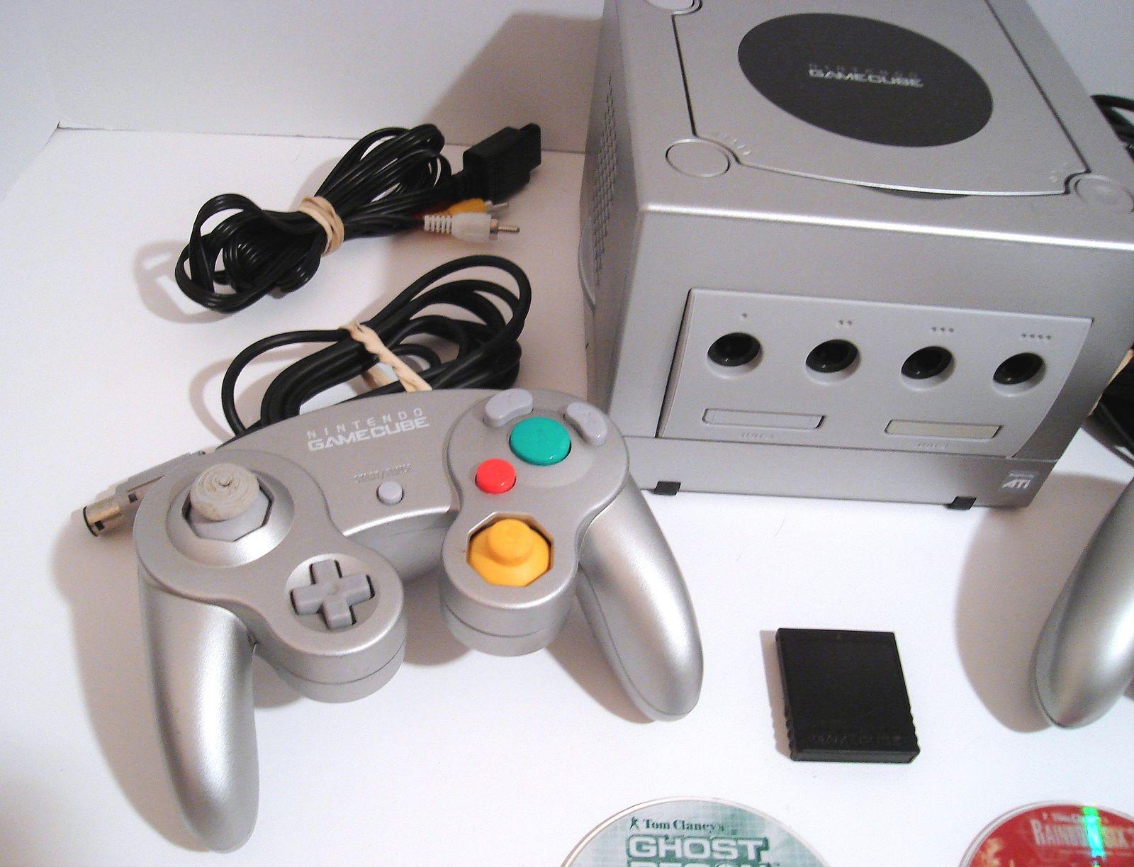Nintendo Gamecube Platinum Console Game System & Games Rainbow Six Ghost Recon